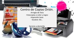 Centro de Copias Orión. Arreglo de Tesis