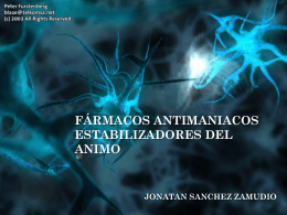 fármacos antimaniacos estabilizadores del animo