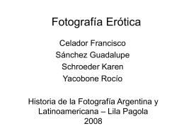 Fotografía Erótica - Escuela Superior de Artes