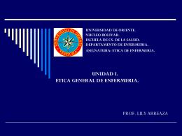 UNIVERSIDAD DE ORIENTE. NUCLEO BOLIVAR. ESCUELA DE