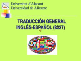 Presentación Traducción General Inglés