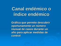 Canal endémico o índice endémico