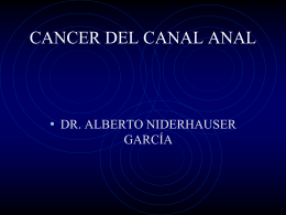 CANCER DEL CANAL ANAL
