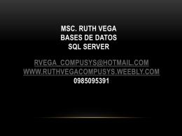 Comparación entre MySQL - SQL Server