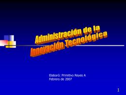 Tecnología, innovación y estrategia
