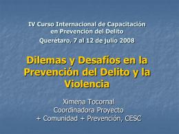 Modulo III: Prevención y respuestas sociales ante