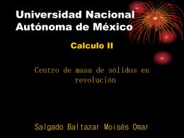 Centro de Masa de Sólidos en Revolución.