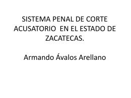 SISTEMA PENAL DE CORTE ACUSATORIO EN EL ESTADO DE