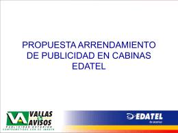 PROPUESTA ARRENDAMIENTO DE PUBLICIDAD EN CABINAS