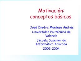 Tema 3 Motivación - UPV Universitat Politècnica de