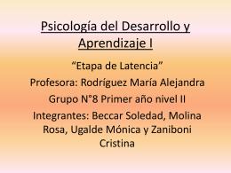 Psicología del Desarrollo y Aprendizaje I
