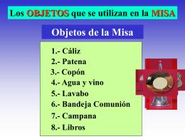 Objetos Misa - La Santa Misa