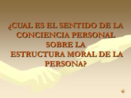 ¿CUAL ES EL SENTIDO DE LA CONCIENCIA PERSONAL