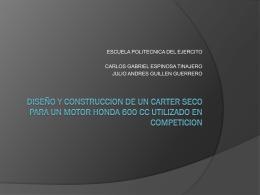 DISEÑO Y CONSTRUCCION DE UN CARTER SECO PARA UN