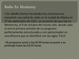 Radio En Monterrey