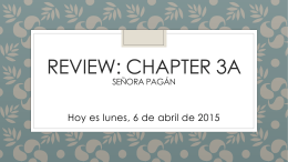REVIEW: CHAPTER 3a Señora pagán