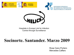 Programa Helics Vigilancia de las infecciones