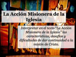 La Acción Misionera de la Iglesia