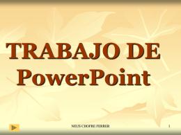 TRABAJO DE PowerPoint