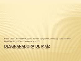 DESGRANADORA DE maíz