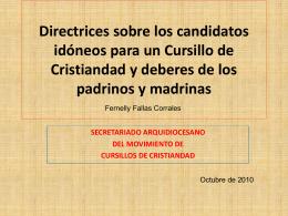 2.11 Directriz para la presentación de candidatos