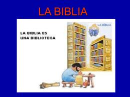 LA BIBLIA - coleclasesdereli