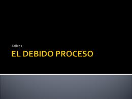EL DEBIDO PROCESO