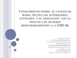 Conocimiento sobre el cáncer de mama, técnica de
