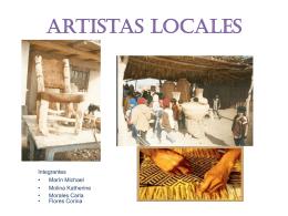 Artistas locales -