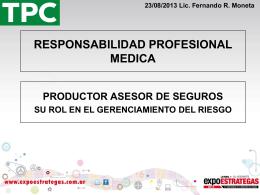 ROL DEL PRODUCTOR EN EL GERENCIAMIENTO DEL RIESGO