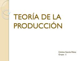 TEORÍA DE LA PRODUCCIÓN - GiteTur