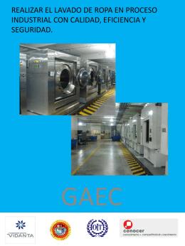 Realizar el lavado de ropa en proceso industrial