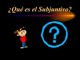 ¿Qué es el Subjuntivo? - fhspanish | A topnotch