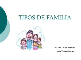 TIPOS DE FAMILIA - C.F.G.S.Integración Social | 1º