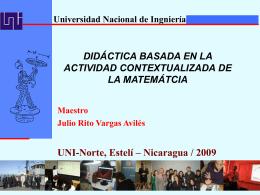 Actividad Matemática - MSc. Ing. Julio Rito