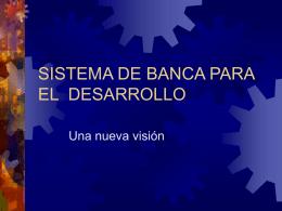 BANCA PARA EL DESARROLLO