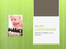 BAJAS CAPACIDADES - riofa | Información de las