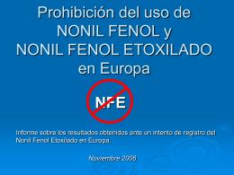 Prohibición del uso del nonilfenol en Europa -