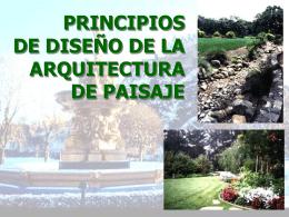 PRINCIPIOS DE DISEÑO DE LA ARQUITECTURA DE PAISAJE