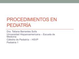 Procedimientos de toma de muestras en pediatría