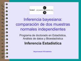 Inferencia bayesiana: comparación de dos muestras