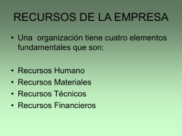 RECURSOS DE LA EMPRESA - cosio