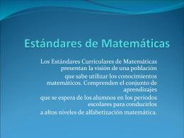 Estándares de Matemáticas