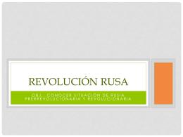 Revolución Rusa: Antecedentes