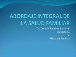ABORDAJE INTEGRAL DE LA SALUD FAMILIAR