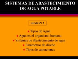 COMPONENTES DEL SISTEMA DE ABASTECIMIENTO DE AGUA