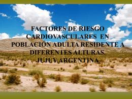 Factores de riesgo cardiovasculares en población