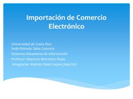 Importación de Comercio Electrónico