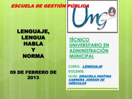 Lenguaje - Técnico Universitario en