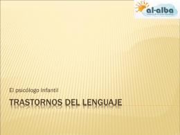 Trastornos del lenguaje - Bienvenidos al Aula
